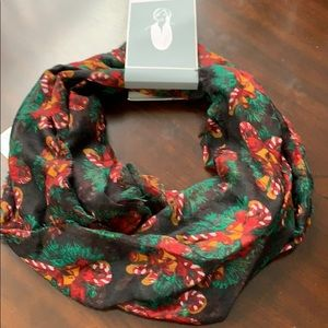 Christmas candy cane infinity scarf